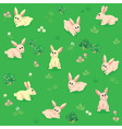 Seamless pattern of summer meadow with rabbits vector image vector image