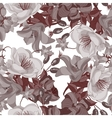 Seamless sepia floral pattern vector image vector image