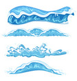 set of different wave design vector image