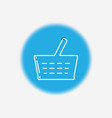 shopping basket icon sign symbol vector image vector image