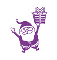 silhouette santa claus with suit christmas and vector image vector image