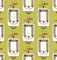 Sketch urinal in vintage style vector image vector image