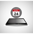 smartphone black lying aganda calendar icon design vector image