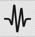 sound wave icon in transparent style heart beat vector image