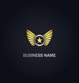 star wing emblem company gold logo vector image vector image