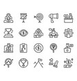 startup and business icon set vector image vector image