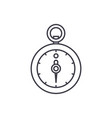 stopwatch line icon concept stopwatch vector image vector image