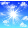 sunny with clouds blue sky with white cloud vector image vector image