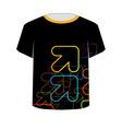 T Shirt Template- fractal arrows vector image vector image