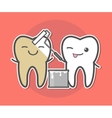 Teeth whitening concept vector image vector image