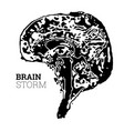 the brain in the form of a topographic map the vector image vector image