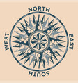 vintage old antique wind rose nautical compass vector image vector image