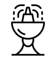 water drink basin icon outline style vector image vector image