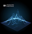 wireframe landscape pattern big data geometric vector image