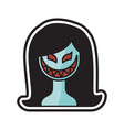 woman halloween logo icon design vector image