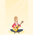 woman playing the acoustic guitar vector image