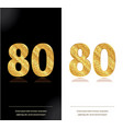 80th anniversary card vector image
