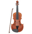 a violin on white background vector image vector image