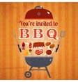 Barbecue invitation event advertisement poster vector image vector image