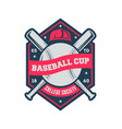 baseball cup vintage isolated label vector image vector image