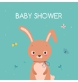 bashower card cute cartoon rabbit vector image vector image