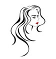 beauty hair icon vector image vector image