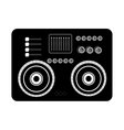 big black stereo graphic vector image vector image