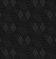 Black textured plastic cut hexagons with triangles vector image