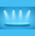 blue presentation platform vector image vector image