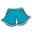 blue shorts on white background vector image vector image