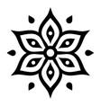 boho flower design inspired by mehndi - indian vector image