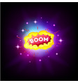 boom white comic text speech bubble explosion in vector image