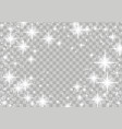 bright shimmering star glow magical frame layout vector image