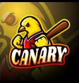 canary esport logo mascot design vector image vector image