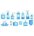 cartoon disinfectants disinfection alcohol spray vector image vector image
