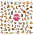 cartoon dog characters big set vector image vector image