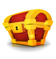 cartoon treasure chest for game ui vector image vector image