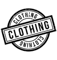 Clothing rubber stamp vector image