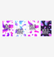 collection stylish holographic backgrounds or vector image