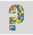 Color Puzzle - Question Mark Gigsaw Piece vector image