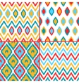 Colorful geometric ikat asian traditional fabric vector image vector image