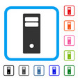 computer mainframe framed icon vector image vector image