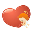 Cupid With Big Heart vector image