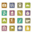 day of scouts icon set vector image vector image