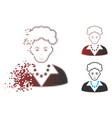 decomposed pixel halftone blonde lady icon vector image vector image