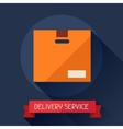 Delivery service icon on background in flat design vector image vector image