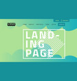 desktop landing page for web website template vector image