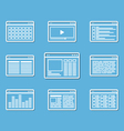 Different web browser icons se vector image vector image