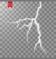 electric lightning bolt energy effect vector image
