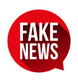 fake news warning speech bubble vector image vector image